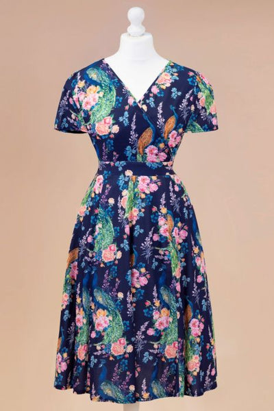 Peacock Floral Lyra dress