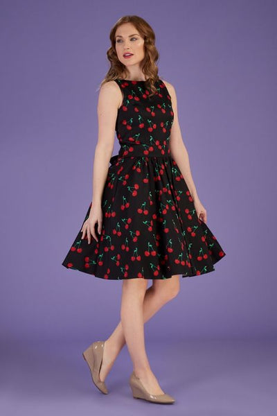 Lady Vintage cherry print tea dress NZ