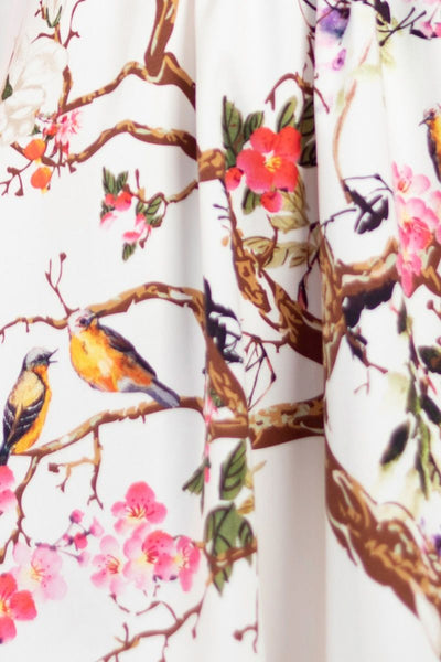 Lady-Vintage-white-floral-dress-spring-bird-dress-nz-detail