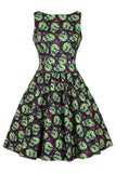 Lady Vintage skulltastic halloween tea dress nZ