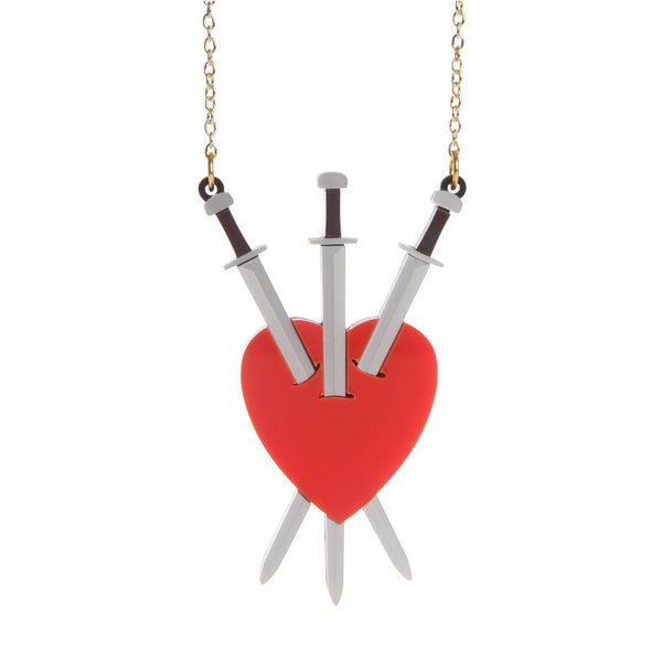 Three of Swords necklace