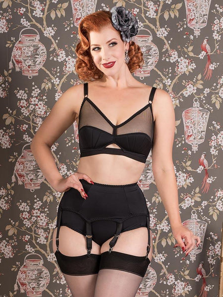 What Katie Did Liz suspender modeled by Miss Victory Violet