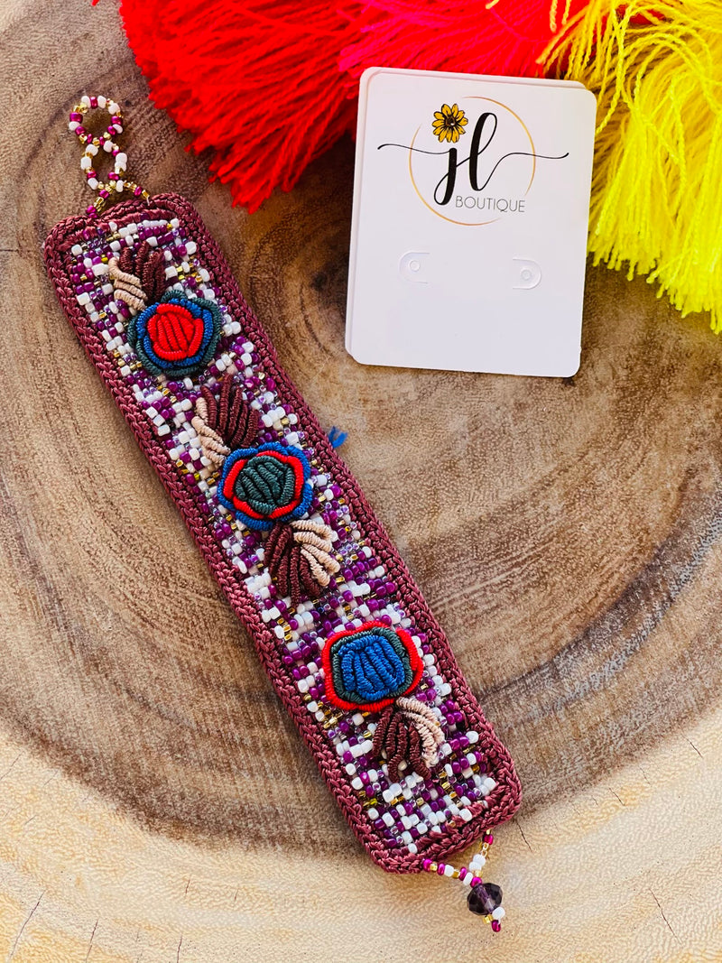 Beaded and Embroidered Bracelet