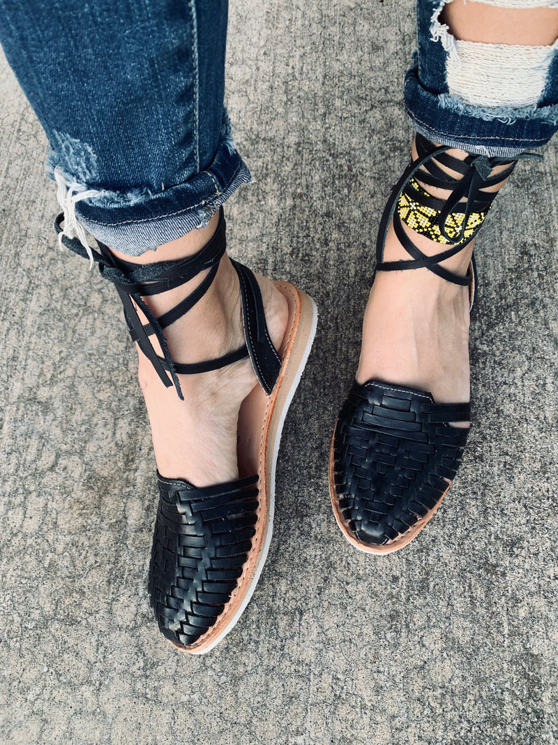 Maria Black Lace-Up