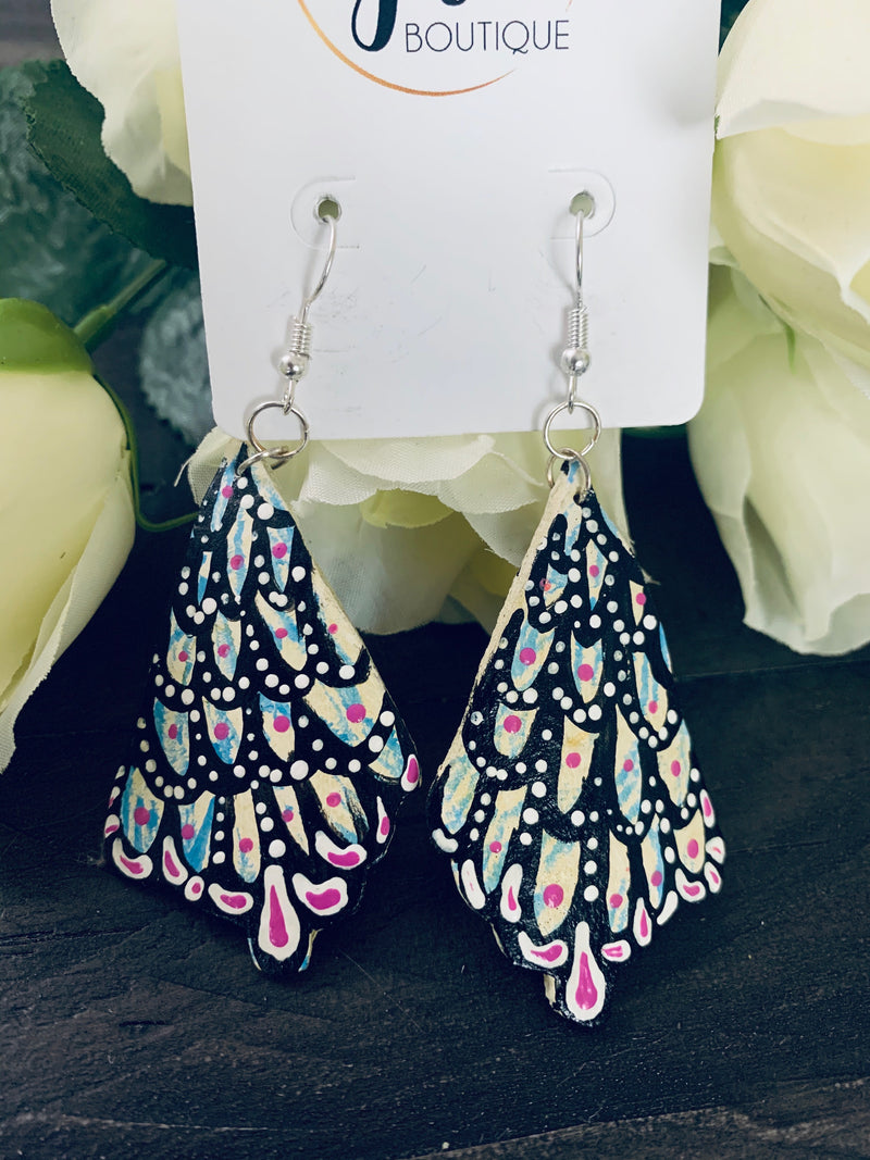 Feather earrings