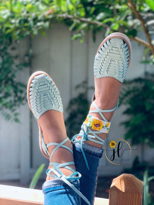 Toby  lace up ( Blue pastel )