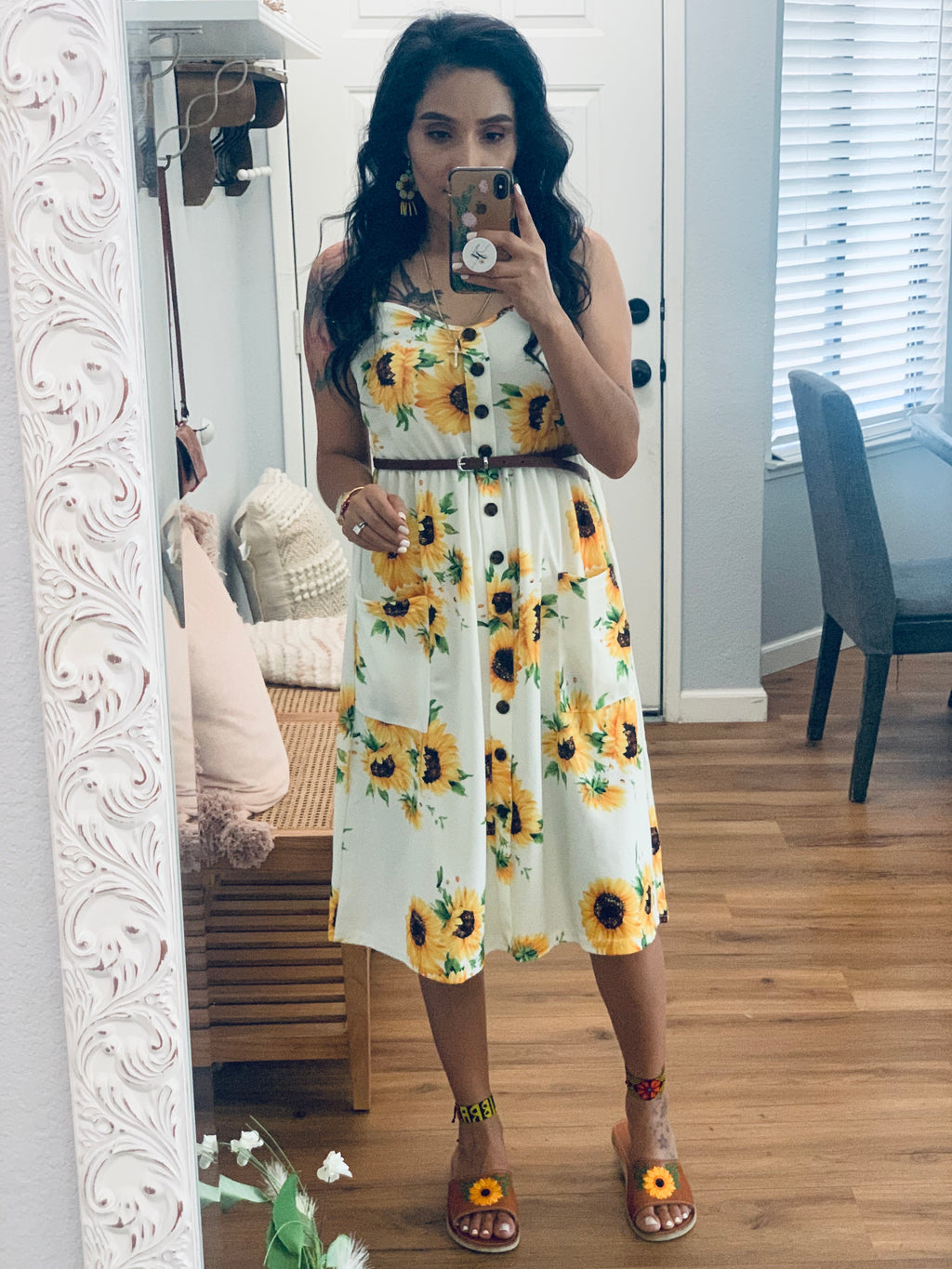 Ivy sunflower dress