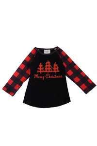 Merry Christmas Raglan Top
