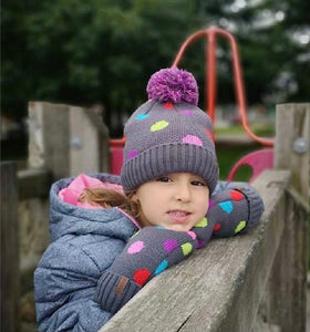 Pudus Kids Hat and Mittens