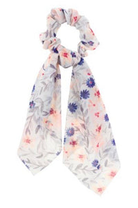 Cream Floral Hair Scarf