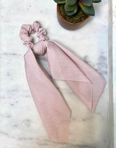 Striped Bandana Scrunchie
