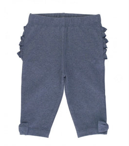 Faux Denim Capri with Bow Detail