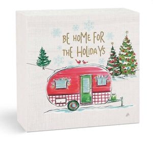 Be Home For The Holidays Wooden Artwork