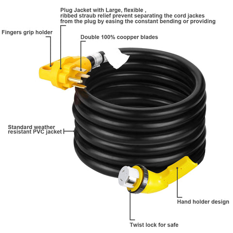 25 Foot 50 Amp RV Extension Cord