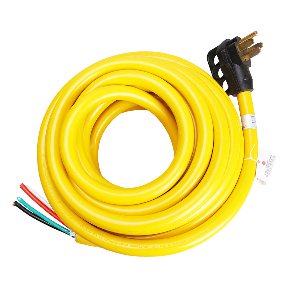 RV Power Extension Cord 50A 4 Wire with Finger Grip