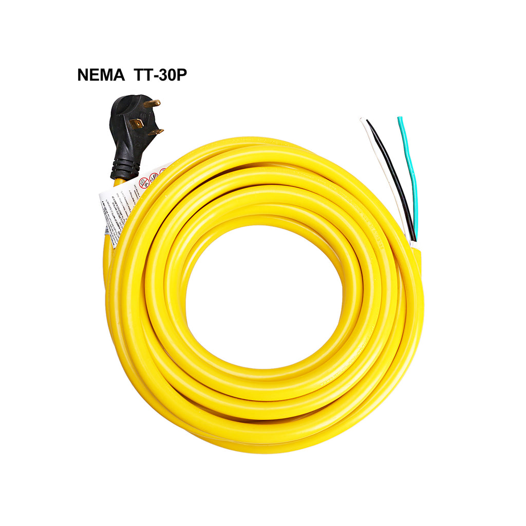 RV extension cord loose end 30A trekpower