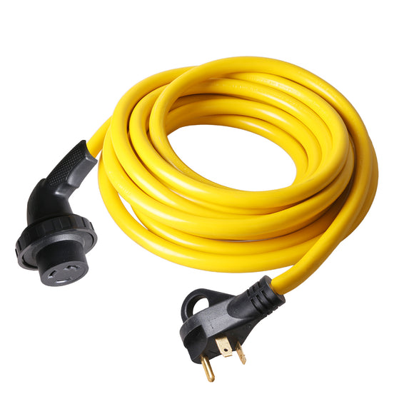 TrekPower 30 Amp  RV Extension Cord Twist Lock Right Angle Power Cord on Male ( RV30-25TH/50TH ) 400RV001-25/50