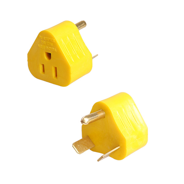 30 Amp to 15 Amp RV Plug Adapter Traingle EXRV053 TrekPower