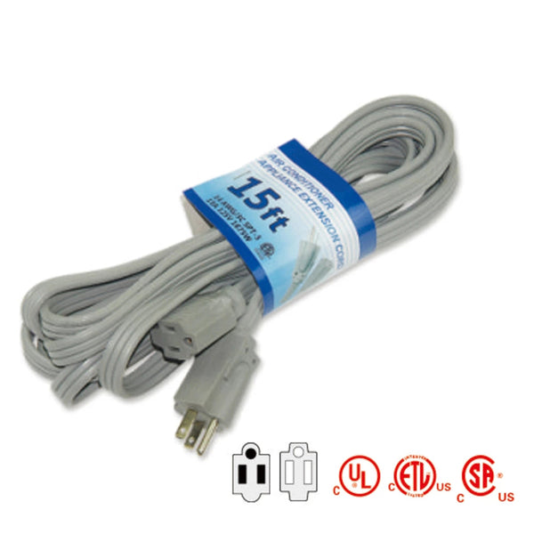 3 Conductor 20A Air Condition/Major Appliance Extension Cords 12/3 AWG 20 AMPS Grey TrekPower