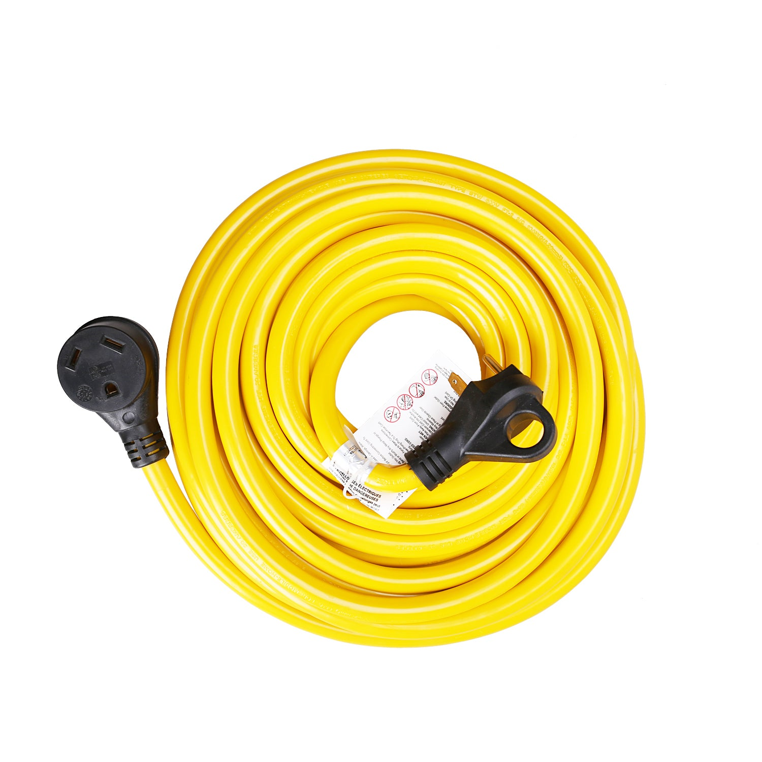 Trekpower 30amp 3 Wire Rv Extension Cord With Finger Grip Rv30 25hf Wiring A 50hf