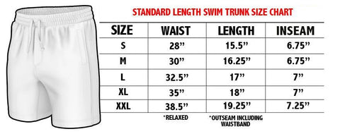 Swim Trunk Size Chart