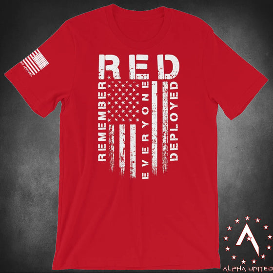 RED (Remember Everyone Deployed) Flag Unisex T-Shirt
