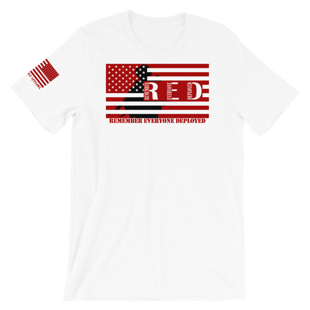 RED (Remember Everyone Deployed) Silhouette Unisex T-Shirt