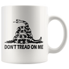 teelaunch Drinkware White Don't Tread On Me Mug