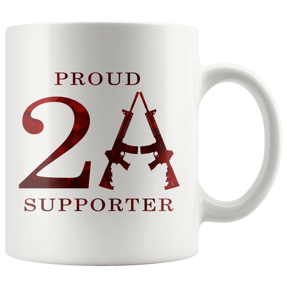 teelaunch Drinkware White Proud 2A Supporter Mug
