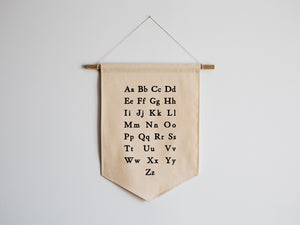 Schoolhouse Alphabet Canvas Banner