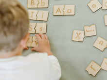Load image into Gallery viewer, Wooden Alphabet Puzzle • Uppercase & Lowercase Matching Game