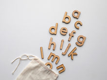 Load image into Gallery viewer, Wooden Alphabet Set • Wood Letters & Movable Alphabet in Maple