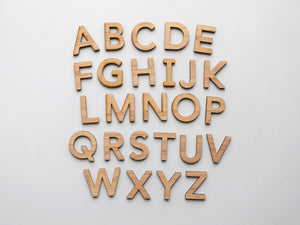 Wooden Alphabet Set • Wood Letters & Movable Alphabet in Maple