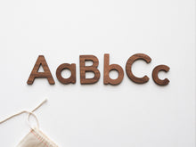 Load image into Gallery viewer, Wooden Alphabet Set • Wood Letters & Movable Alphabet in Walnut
