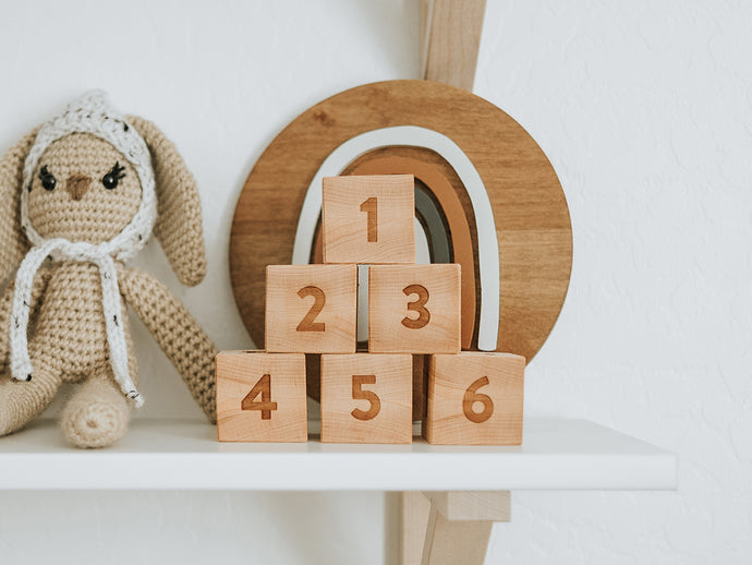 Modern Wooden Alphabet Blocks