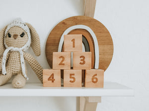 Custom Modern Wooden Name Blocks