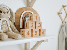 Load image into Gallery viewer, Modern Wooden Alphabet Blocks