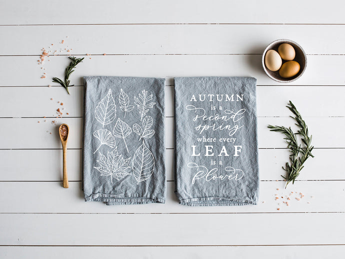 Autumn Themed Set of Two Tea Towels