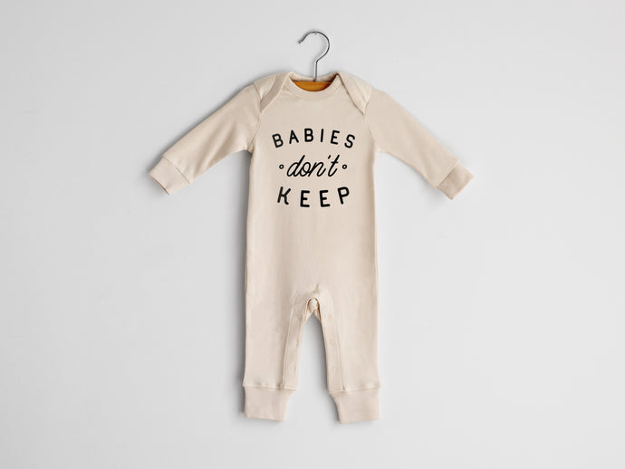 Babies Don't Keep Full Body Organic Baby Romper