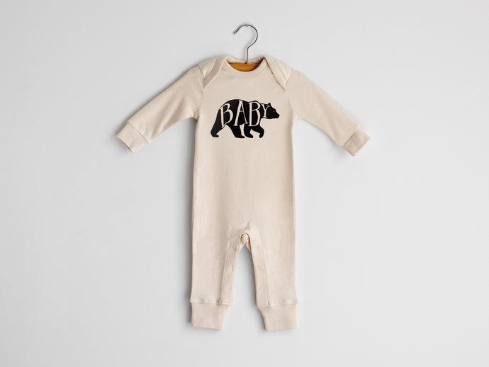 Baby Bear Full Body Organic Baby Romper
