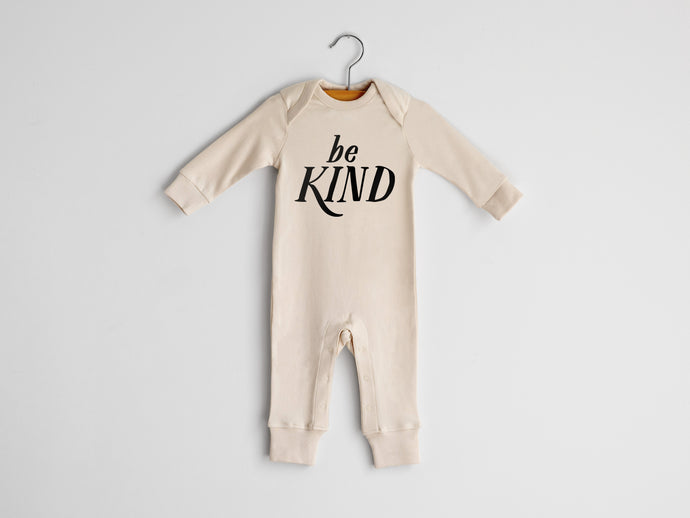 Be Kind Full Body Organic Baby Romper