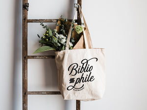Bibliophile Canvas Tote Bag