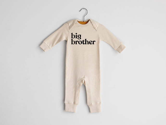 Big Brother Full Body Organic Baby Romper