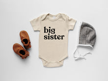 Load image into Gallery viewer, Big Sister Organic Baby Bodysuit