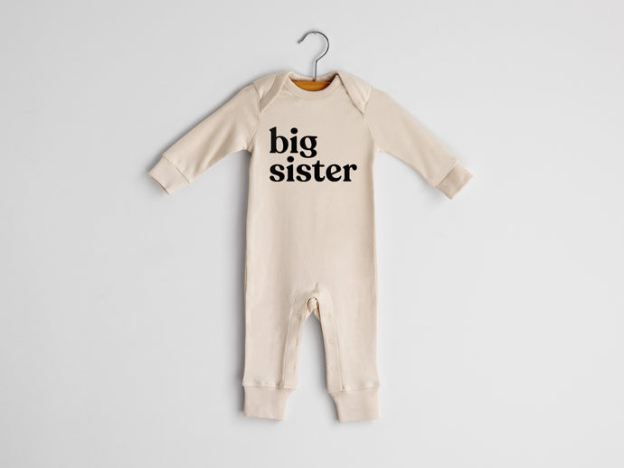Big Sister Full Body Organic Baby Romper