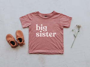 Big Sister Modern Baby and Kids Tee