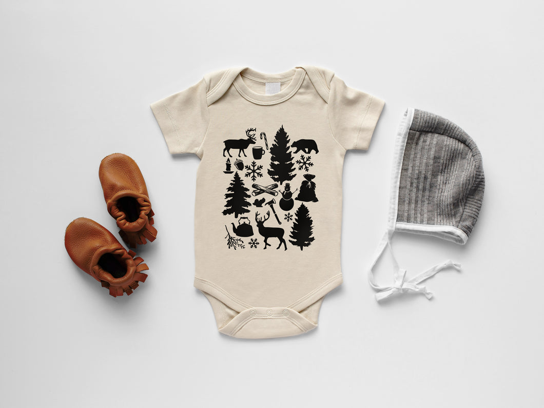 Baby's First Christmas Organic Bodysuit