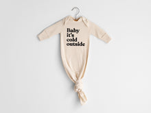 Load image into Gallery viewer, Baby It's Cold Outside Organic Knotted Baby Gown