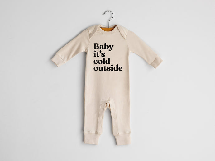 Baby It's Cold Outside Full Body Organic Baby Romper