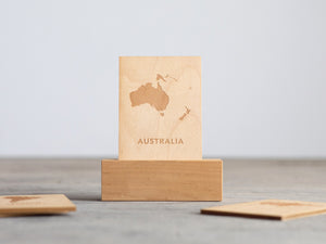 Wooden Continent Flash Cards • Maps of All 7 Continents on Wood